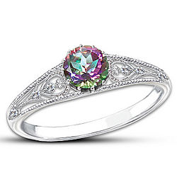 Shades of Passion Multi-Colored Mystic Topaz Ring