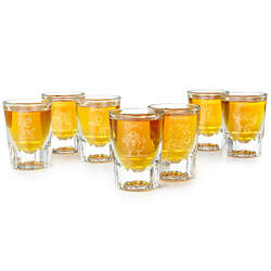 7 Deadly Sins Etched Shot Glasses