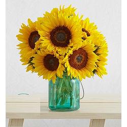 Sunflowers with Mason Jar