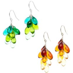 Handcrafted Glass Teardrop Earrings