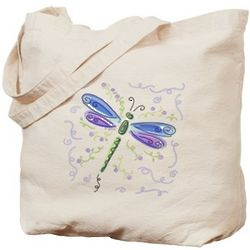 Dragonfly Canvas Tote Bag
