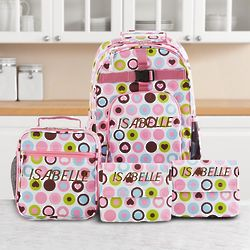 Personalized Playful Print Bag Set for Girls