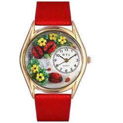 Gold Ladybugs Watch
