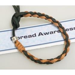 Leather Awareness Bracelet