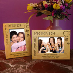 Personalized Friends Forever Wooden Picture Frame