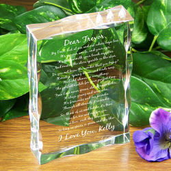 To My Love Personalized Keepsake Block