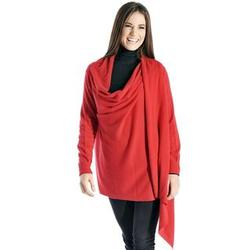 Pure Cashmere Shawl with Sleeves