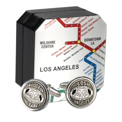 Authentic LA Transit Token Cufflinks