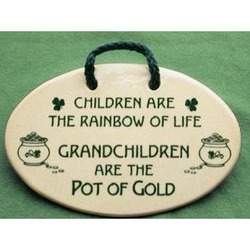 Irish Grandchild Hand Crafted Ceramic Wall Plaque