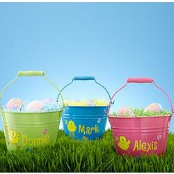 Personalized Easter Tin Bucket
