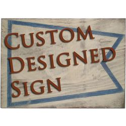 Custom Handpainted Wooden Sign