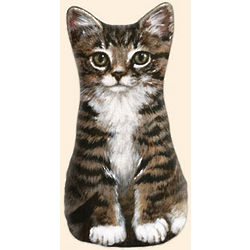 Tabby Kitten Doorstop