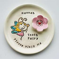Fairy with a Wand Personalized Tooth Fairy Plate