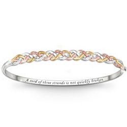 Strength of Faith Tri-Color Diamond Bracelet