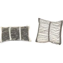 Striped Crochet Pillows