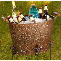 Bronze Damask Beverage Bucket