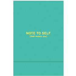 Note to Self Pocket Notepad
