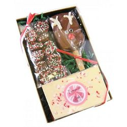 Peppermint Bark Chocolate Christmas Box