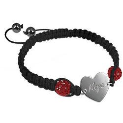 Personalized Shamballa Heart Bracelet