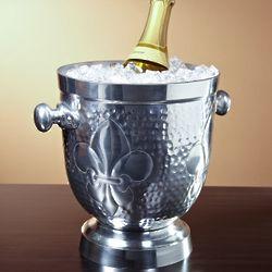 Hammered Fleur de Lis Wine Bucket