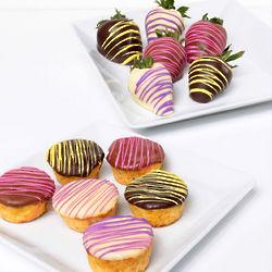 Triple Chocolate Berries and Classic Mini-Cheesecakes Gift Box