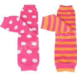 Pink Stripes & Dots Baby Leg Warmers