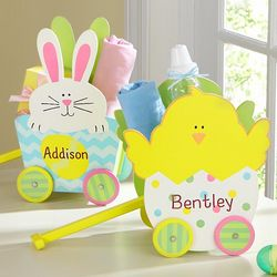 Toddler's Personalized Wooden Easter Cart