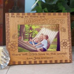 Love in the World Personalized Wooden 4x6 Photo Frame