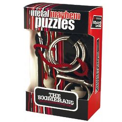Boomerang Metal Disentanglement Brain Teaser