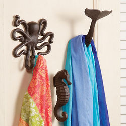 Cast Iron Sea Life Wall Hooks