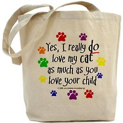 Love Cat My Like a Child Tote Bag