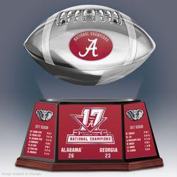 Alabama 2017 National Champions Levitating Football Sculpture