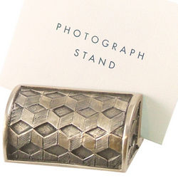 Cubes Pewter Photo Stand