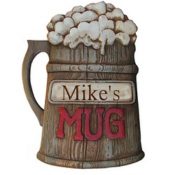 Personalized Beer Mug Plaque