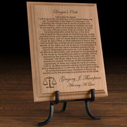 Personalized Lawyer's Oath Wooden Plaque
