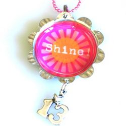 Shine 13th Birthday Bottle Cap Necklace