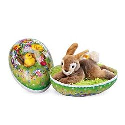 Giant Springtime Egg and Steiff Bunny