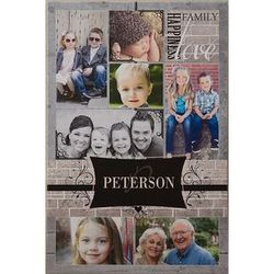 Family Memories 24x36 Personalized Photo Collage Canvas Art