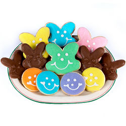 Smiley Cookies and Chocolate Bunnies Gift Box