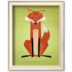 The Crooked Fox Framed Art Print