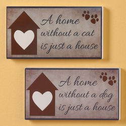 A Home Pet Plaque
