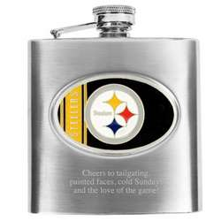 Pittsburgh Steelers Stainless Steel Flask