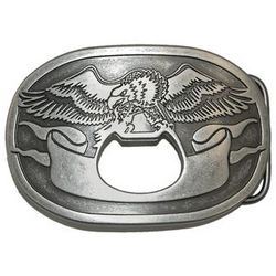 Eagle Plaque Buckle with Bottle Opener