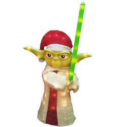 3D Tinsel Yoda Lawn Decor
