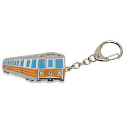 Boston Orange Line Bus Key Chain