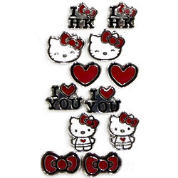 I Love You Hello Kitty Stud Earrings Set