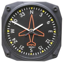 Directional Gyro Aviation Wall Clock