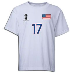 Youth 2014 FIFA World Cup Brazil USA 17 Player T-Shirt