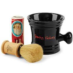 Black Shaving Mug and Brush Set