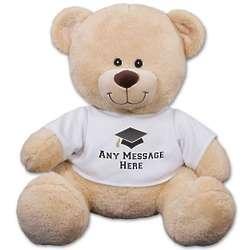 Any Message on the Tee Graduation Teddy Bear